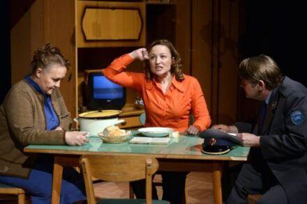 Na fotografiji: Maja Končar, Nataša Barbara Gračner in Zvone Hribar Foto: Peter Uhan