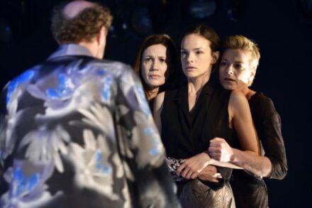 Na fotografiji: Janez Škof, Maja Sever, Tina Vrbnjak in Barbara Cerar Foto: Peter Uhan