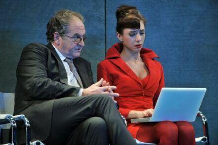 Na fotografiji: Ivo Ban in Alida Bevk Foto: Peter Uhan