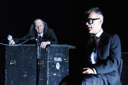 Samuel Beckett: Konec igre / Na fotografiji: Matija Rozman in Igor Samobor Foto: Peter Uhan