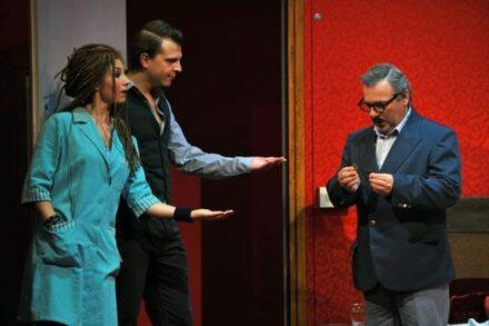 Na fotografiji: Sabina Kogovšek Zrnec, Aljaž Jovanović in Bojan Emeršič Foto: Peter Uhan