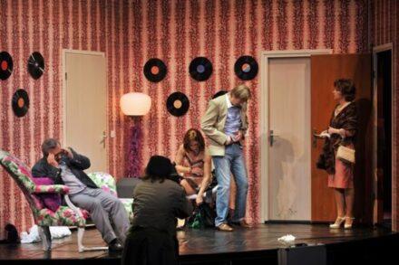 Na fotografiji: Bojan Emeršič, Matija Rozman, Maja Sever, Alojz Svete in Veronika Drolc Foto: Peter Uhan