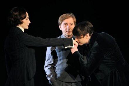Na fotografiji: Saša Pavček, Gregor Baković in Saša Tabaković Foto: Peter Uhan