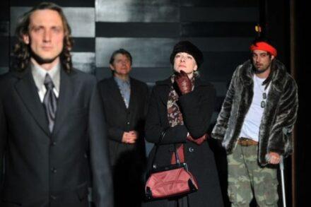 Na fotografiji: Marko Mandić, Zvone Hribar, Barbara Cerar in Rok Vihar Foto: Peter Uhan