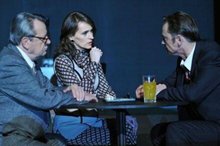 Na fotografiji: Andrej Nahtigal, Petra Govc in Igor Samobor Foto: Peter Uhan
