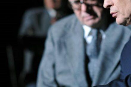 Na fotografiji: Andrej Nahtigal in Igor Samobor Foto: Peter Uhan
