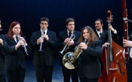 Na fotografiji: Študenti Akademije za glasbo Foto: Peter Uhan