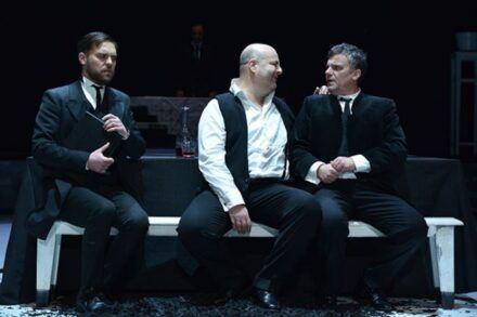 Na fotografiji: Kristijan Ostanek, Nejc Ropret, Jernej Šugman in Valter Dragan Foto: Peter Uhan