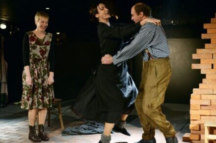 Na fotografiji: Barbara Cerar, Saša Pavček in Janez Škof Foto: Peter Uhan