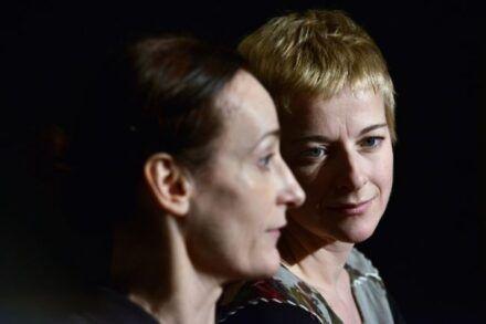 Na fotografiji: Saša Pavček in Barbara Cerar Foto: Peter Uhan