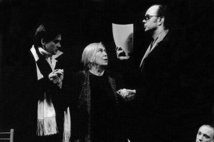 Na fotografiji: Branko Šturbej, Štefka Drolc in Matija Rozman Foto: Peter Uhan