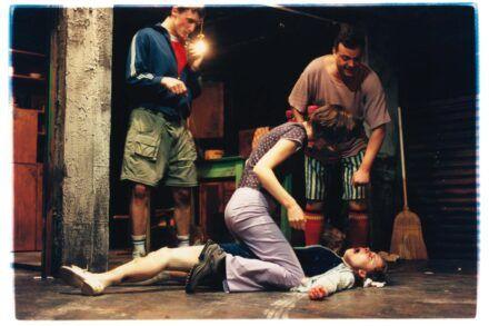 Na fotografiji: Marko Mandić, Petra Govc, Valter Dragan in Saša Mihelčič Foto: Peter Uhan