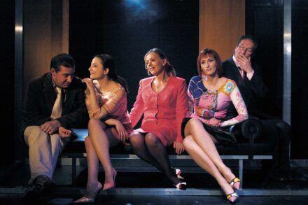 Na fotografiji: Aleš Valič, Nataša Barbara Gračner, Milena Zupančič, Saša Pavček in Ivo Ban Foto: Peter Uhan