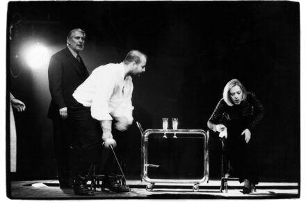 Na fotografiji: Boris Cavazza, Jernej Šugman in Milena Zupančič Foto: Tone Stojko
