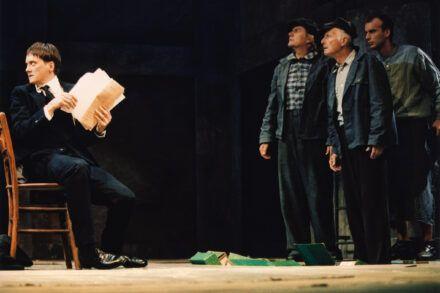 Na fotografiji: Branko Šturbej, Zvone Hribar, Boris Juh in Boris Kos Foto: Tone Stojko