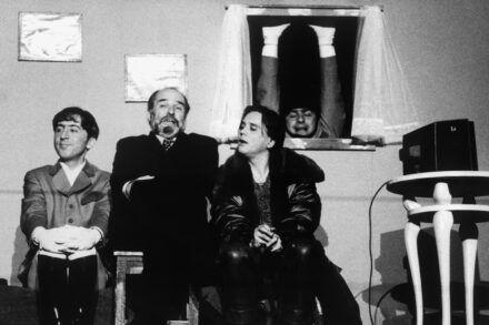 Na fotografiji: Gregor Baković, Janez Hočevar, Branko Šturbej in Bojan Emeršič Foto: Tone Stojko