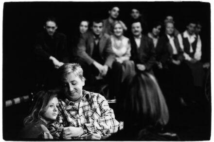 Na fotografiji: v ospredju Polona Juh in Gregor Baković Foto: Tone Stojko