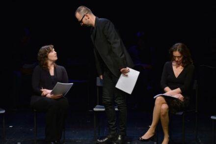Na fotografiji: Barbara Žefran, Uroš Fürst in Petra Govc Foto: Peter Uhan