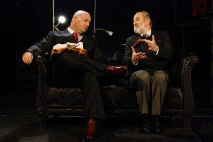 Na fotografiji: Jernej Šugman in Janez Hočevar Foto: Peter Uhan