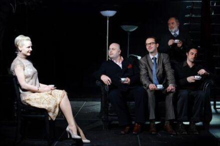Na fotografiji: Polona Juh, Jernej Šugman, Uroš Fürst, Janez Hočevar in Rok Vihar Foto: Peter Uhan