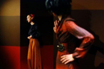 Na fotografiji: Veronika Drolc in Petra Govc Foto: Peter Uhan