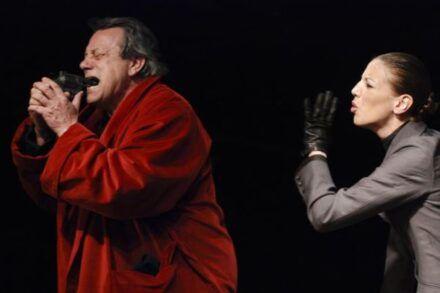 Na fotografiji: Andrej Nahtigal in Barbara Žefran Foto: Peter Uhan