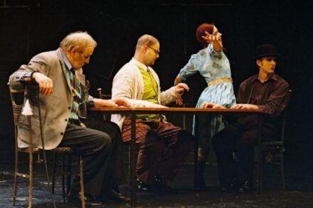 Na fotografiji: Dare Valič, Jernej Šugman, Saša Mihelčič in Alojz Svete Foto: Peter Uhan