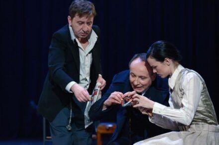 Na fotografiji: Gregor Baković, Tomaž Gubenšek in Tina Vrbnjak Foto: Peter Uhan