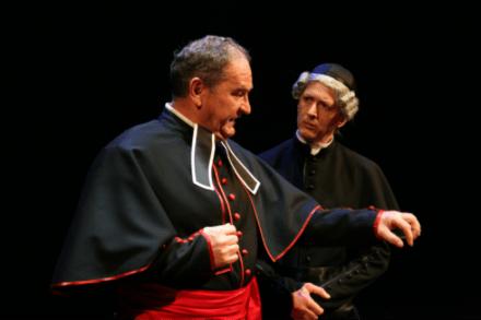 Drago Jančar: Katarina, pav in jezuit / Na fotografiji: Ivo Ban, Alojz Svete Foto: Tone Stojko