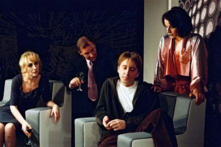 Na fotografiji: Silva Čušin, Aleš Valič, Gregor Baković in Maša Derganc Foto: Peter Uhan