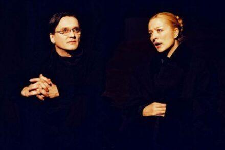 Na fotografiji: Branko Šturbej in Nataša Barbara Gračner Foto: Peter Uhan