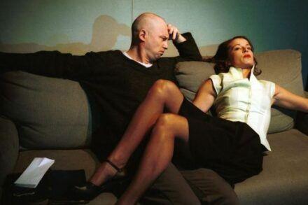 Na fotografiji: Boris Mihalj in Maša Derganc Foto: Tone Stojko