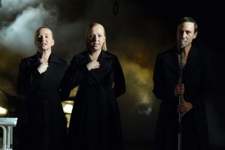 Na fotografiji: Mateja Pucko, Vanja Plut in Klemen Slakonja Foto: Peter Uhan
