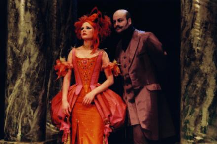 Molière: Ljudomrznik. 1999/2000 / Na fotografiji: Polona Juh in Jernej Šugman Foto: Peter Uhan