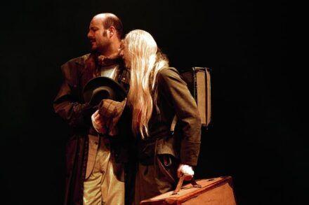 Beckett: Čakajoč Godota. 1999/2000 / Na fotografiji: Jernej Šugman in Alojz Svete Foto: Tone Stojko