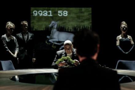 Rihard III. + II. 2013/14 / Na fotografiji: Silva Čušin, Klemen Slakonja, Jernej Šugman, Saša Tabaković in Polona Juh Foto: Aljoša Rebolj