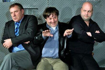 Na fotografiji: Aleš Valič, Bojan Emeršič in Jernej Šugman Foto: Peter Uhan