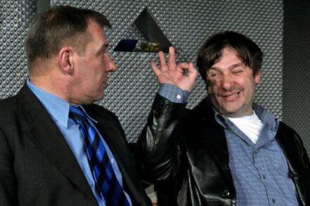 Na fotografiji: Aleš Valič in Bojan Emeršič Foto: Peter Uhan