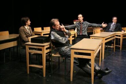 Na fotografiji: Saša Tabakovič, Aleš Valič, Uroš Fürst in Ivo Ban Foto: Tone Stojko